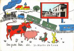 Une Grosse Bise De Saint Martin De Coux - Coux