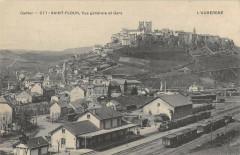 Saint Flour Vue Generale Et La Gare (Train - Saint-Flour