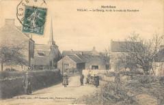 Molac Le Bourg Vu De La Route De Rochefort - Molac