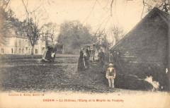 Gourin Le Chateau L'Etang Et Le Moulin De Tronjoly - Gourin
