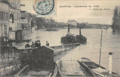 Saintes Inondations 1904 Quai Des Freres - Saintes