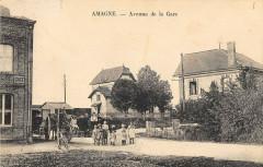 Amagne Avenue De La Gare - Amagne