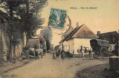 Allery Rue Du Quayet (cpa toilée - Allery
