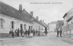 Davenescourt Rue De L'Eglise (cliché pas courant - Davenescourt