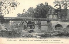 L'Isle Adam Demolition Du Pont Du Bras Du Moulin La Passerlle - L'Isle-Adam