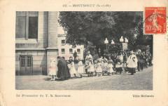 Montsoult La Prcession Du T.S. Sacrement Villa Bethanie (cpa rare - Montsoult