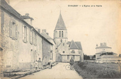 Chaussy Eglise Et Mairie - Chaussy