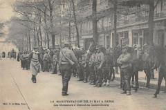 Paris 5e Manifestation Du 1ER Mai A Paris Les Chasseurs Cheval Luxembourg - Paris 5e