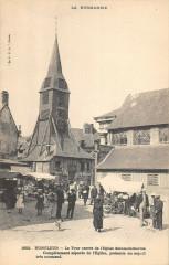 Honfleur La Tour Carree De L'Eglise Ste Catherine - Honfleur