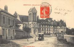 Ambleville Ensemble Du Chateau Et De L'Eglise - Ambleville