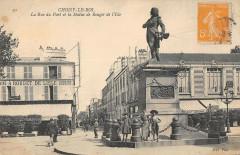Choisy Le Roi La Rue Du Pont Statue Rouget De L'Isle - Choisy-le-Roi