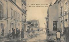Ablon Inonde 1910 La Rue Du Bac Donnant Sur La Seine 94 Val de Marne