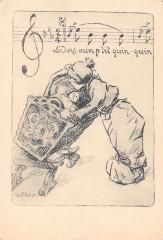 Cpa Illustrateur Du Nord Dors Min P'Tit Quin Quin - Ors