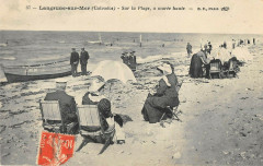 Langrune Sur Mer Sur La Plage A Maree Haute - Langrune-sur-Mer