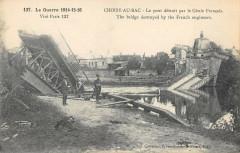 Choisy Au Bac Le Pont Detruit Par Le Genie Francais - Choisy-au-Bac