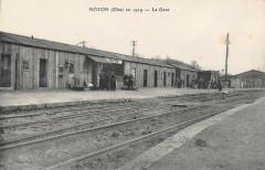 Noyon En 1919 La Gare - Noyon