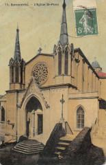 Sommieres L'Eglise Saint Louis (cpa toilée - Sommières