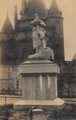Carte Photo Du Monument Aux Morts De Camon Ariege - Camon