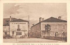 Saint Jean Poutge La Place Et Route De Condom - Condom