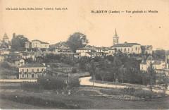 Saint Justin Vue Generale Et Le Moulin - Saint-Justin