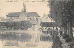 Bar Sur Aube L'Aube Et Eglise Saint Maclou - Bar-sur-Aube