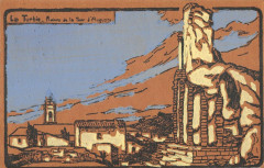 Cpa Illustrateur La Turbie Ruines De La Tour D'Auguste - La Tour