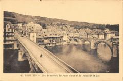 Espalion Les Tanneries Le Pont Vieux Et Pont Sur Le Lot - Espalion
