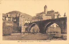 Estaing Le Pont Et Le Chateau - Estaing