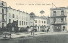 Pezenas Place Du 14 Juillet Cote Ouest - Pézenas