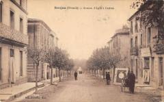Roujan Avenue D'Agde A Castres (cpa rémouleur Metier - Roujan