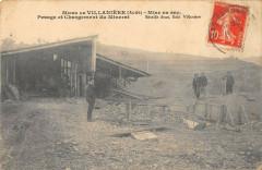 Mines De Villaniere Mise En Sac Pesage Et Chargement Du Minerai (cpa rare - Villanière
