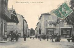Rieux Minervois Place Et Grand Rue - Rieux-Minervois