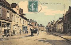 Bulles La Rue Principale (cpa toilée - Bulles