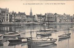 Le Pouliguen Le Port Et Le Quai Vers L'Eglise - Le Pouliguen