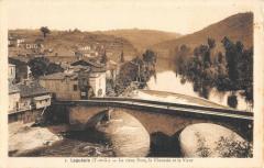 Laguepie Le Vieux Pont La Chaussee Et Le Viaur - Laguépie
