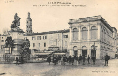 Cahors Monument Gambetta Bibliotheque - Cahors