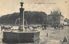 Rumilly La Place D'Armes (scène de marché - Rumilly