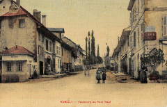 Rumilly Faubourg Du Pont Neuf (cpa toilée - Rumilly