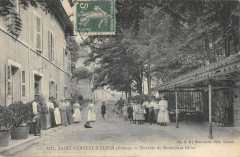 Saint Rambert D'Albon Terrasse Du Restaurant Ollier - Albon