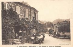Menglon Cafe Bonniot Et Route Des Thonnons (cpa rare - Menglon