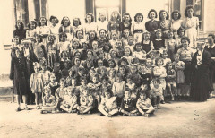 Carte Photo Ecole De Chabeuil Annee 1945 1946 - Chabeuil