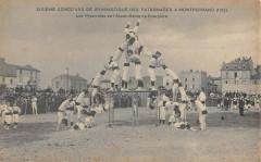 Concours De Gymnastique De Montferrand Pyramides Courpiere - Courpière