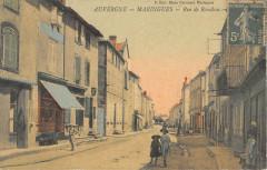 Maringues Rue De Baraban (cpa toilée - Maringues
