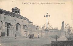 Marsat Eglise Monument Aux Morts - Marsat