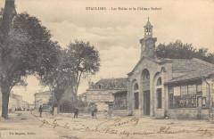Etauliers Les Halles Et Le Chateau Baffort - Étauliers