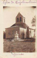 Carte Photo Eglise De Pujols Sur Ciron - Pujols