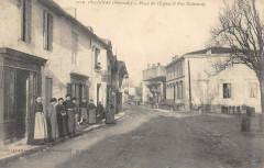 Preignac Place De L'Eglise Et Rue Nationale - Preignac