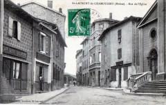 Saint Laurent De Chamousset Rue De L'Eglise - Saint-Laurent-de-Chamousset