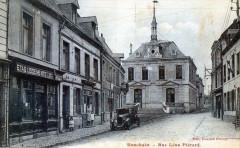 Bouchain Rue Leon Pierard (cpa animée) - Bouchain