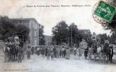 Vallabregues - Depart Du Courrier Pour Tarascon Beaucaire (Diligence Beau - Vallabrègues